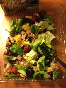An insanely yummy salad from Harmon's in Salt Lake City.
